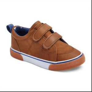 3 for $25 Boys Brown Velcro Sneakers-1